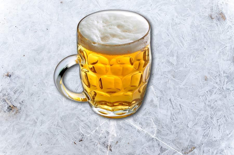 jarra de cerveza de hielo