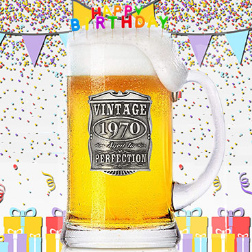jarras de cerveza para cumpleaños