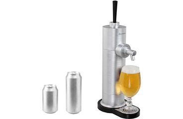 tirador de cerveza en lata